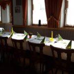 Gasthof Magg - großer Saal - festlich gedeckt